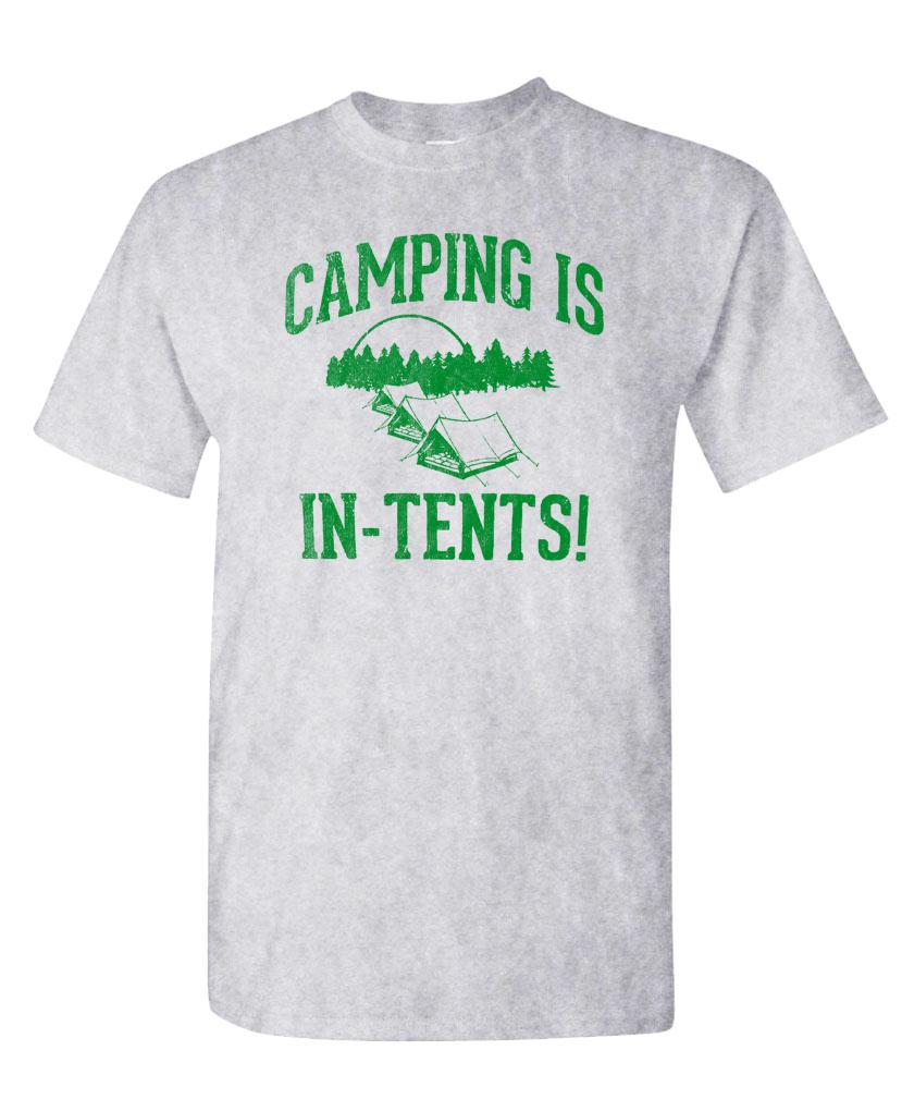 Image is loading CAMPING-IS-IN-TENTS-funny-great-outdoors-hipster-  sc 1 st  eBay & CAMPING IS IN TENTS - funny great outdoors hipster tent wilderness ...
